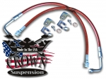 S-Series Steel Braided Extended Brake Lines