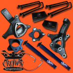 "7.5"" Front 4"" Rear Lift Kit With Shocks"