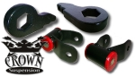 "3/1 Lift Kit 1-3"" Torsion Keys 1"" Rear Lift Shackle"
